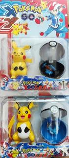 Set 2 Muñecos Pokemon Go Con Pokebola Pikachu Pokemones Ash