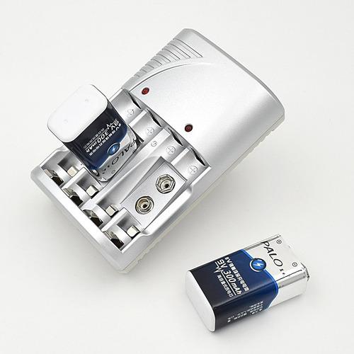 Cargador De 4 Pilas Aa/aaa O 2 Baterias 9v Li-ion Nimh Nicd