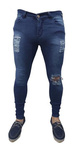 Jean Hombre Elastizado Chupin Variedad Skin Slim Pantalón