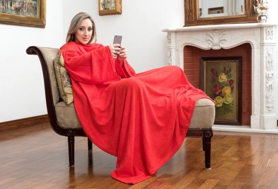 Cobertor Tv Com Mangas Solteiro Macio Fofinho Inverno