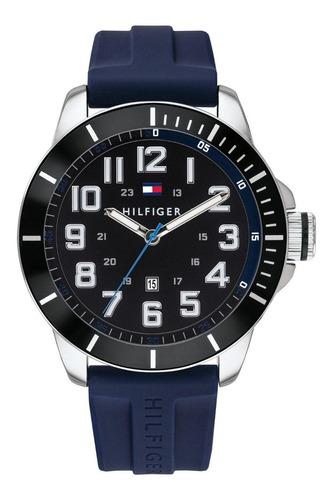 Relógio Masculino Tommy Hilfiger Borracha Azul Original