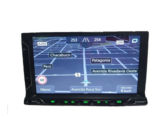Estereo Doble Din Ecopower 7012 7display/ Con Gps+camara De Retroso