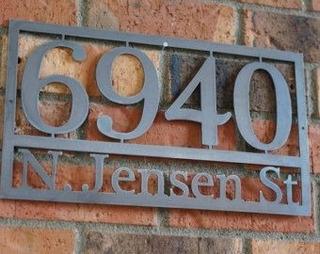 Numero De Casa Personalizado En Metal Residencial