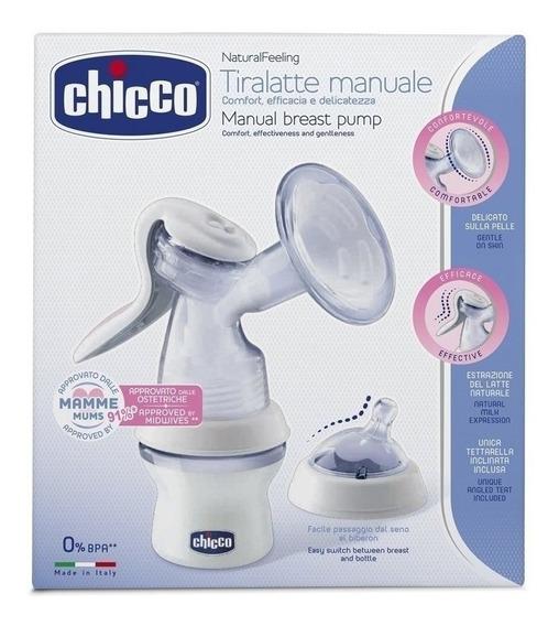 Sacaleche Manual Chicco Extractor Con Mamadera Tetina Y Tapa