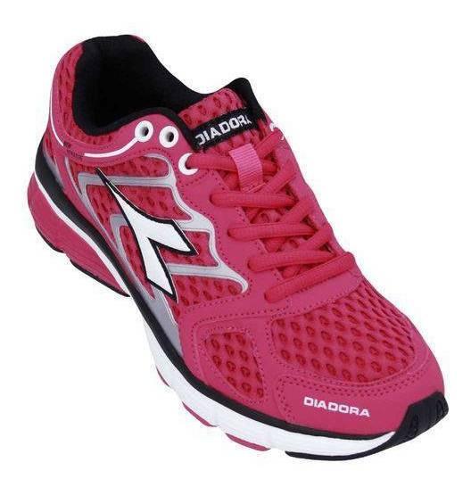 Tenis Diadora New Stratus Pink Preto