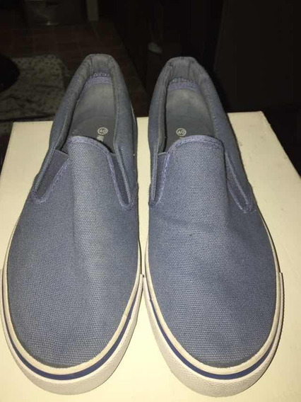 Zapatillas Azule Tipo Nauticas