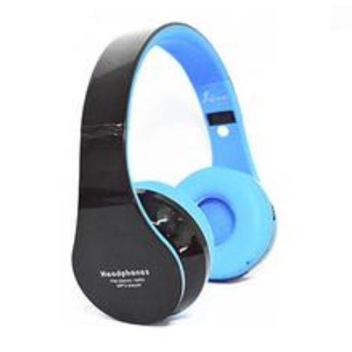 Fone Bluetooth Knup Kp-362 Sd Mp3 Fm Azul Com Preto