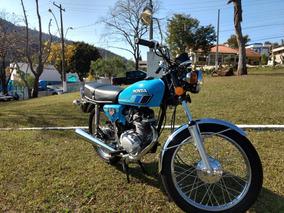 Cg 125 Bolinha 1979 Azul