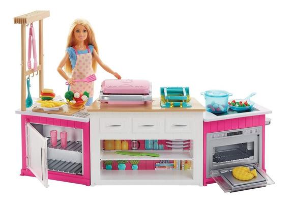 Playset Barbie Cozinha De Luxo Com Som E Luz Mattel Frh73