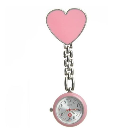 Reloj Corazon Grande Enfermera Doctora Metalico P/ Colgar
