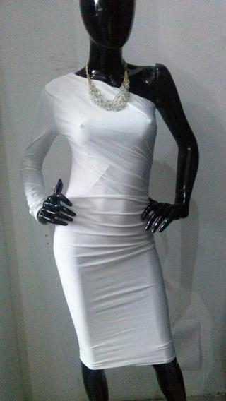 Vestido Formal Blanco 4957