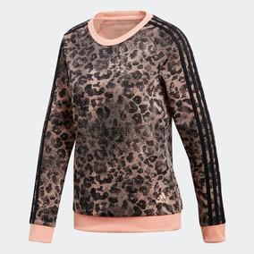 Blusa Moletom adidas Essentials W Ess Aop Sw Original