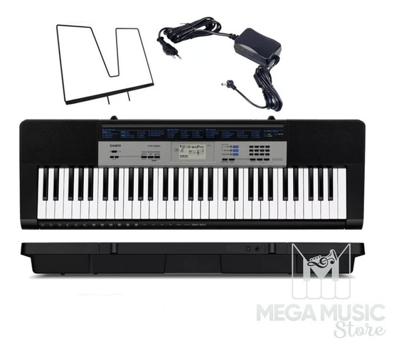 Teclado Musical Casio 61 Teclas, 120 Timbres Com Fonte