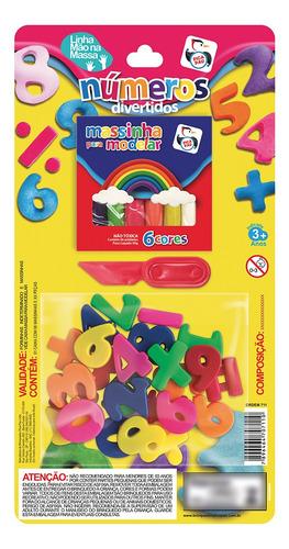 Imagem 1 de 3 de Brinquedo Educativo Número Massinha Cores Sortidas Pica Pau