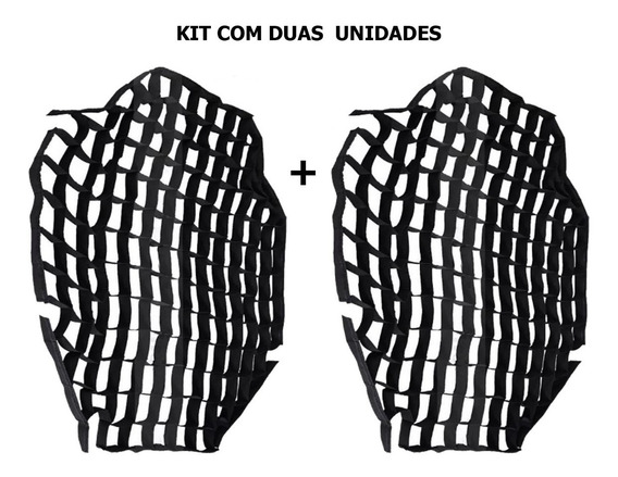 Kit Duas Tela Grid Colméia Para Softbox