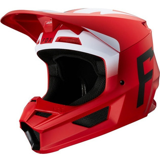 Casco Fox V1 Werd Rojo Motocross Enduro Cuatrimoto 2020
