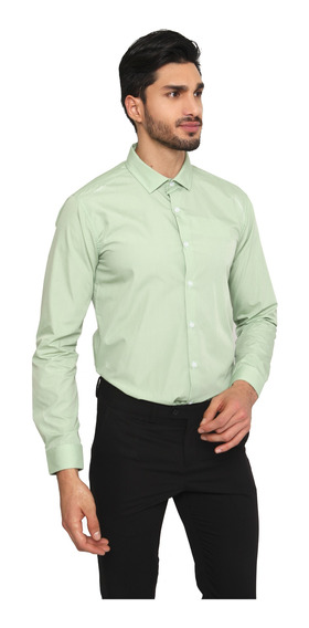 Camisa Hombre Manga Larga Slim Fit Color Lila Lob
