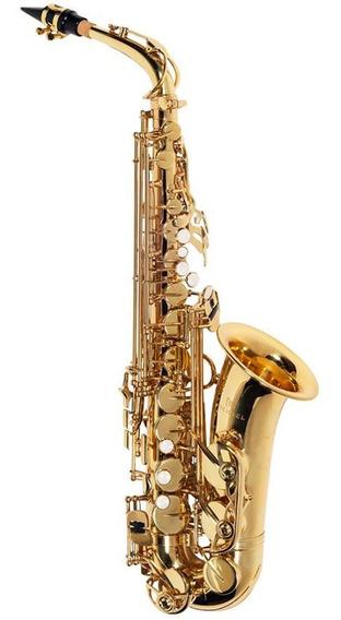Saxofone Sax Alto Eb Mi Bemol Michael Laqueado C/ Case