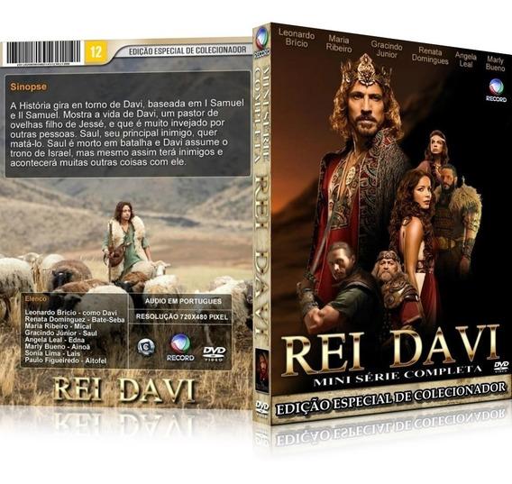 Box Minisérie Rei Davi 30 Capítulos Completa Rede Record