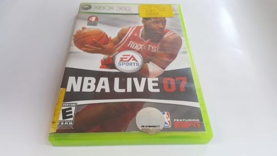Nba Live 07 - Xbox 360 - Original - Mídia Física