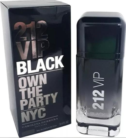 Perfume 212 Vip Black 200 Ml Carolina Herrera 100% Original