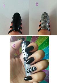 10 Cartelas Nail Stencil Adesivo De Vinil P Unha Nail Stamp