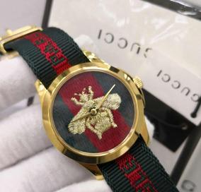 Relógio Gucci Bee Aro Dourado Frete Grátis Original