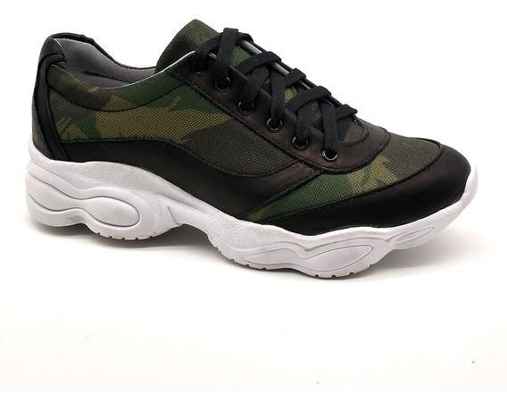 Tênis Dad Chunky Sneaker Feminina Bm Brasil 251 Camuflado