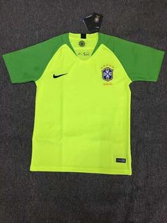 Camisa Goleiro Seleção Brasileira Verde 2018   Frete Grátis