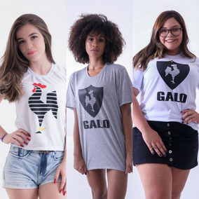 Kit 3 Pçs Atlético Mineiro Galo - Blusas Camisetas