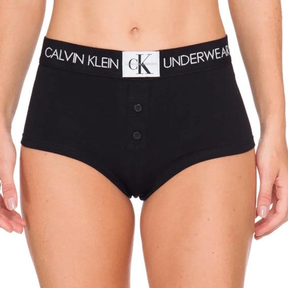 Calcinha Calvin Klein Short Boxer Monograma Com Botões Sch49