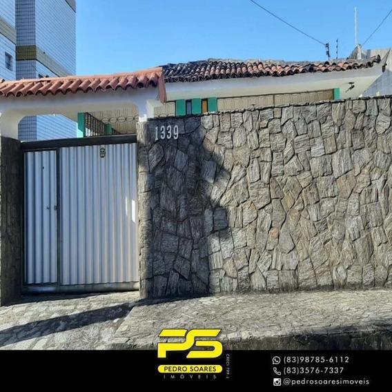 Casa Com 3 Dormitórios À Venda, 300 M² Por R$ 230.000,00 - Cristo Redentor - João Pessoa/pb - Ca0619