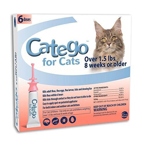 Control De Pulgas Y Garrapatas Catego Para Gatos 15 Lbs Paqu