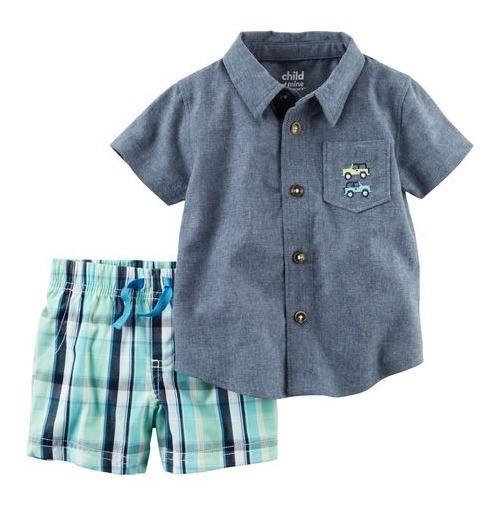 Conjunto Carters Bermuda E Camisa Bebê - Vário Modelos