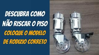 Kit Pé Cama Box Cromado Rodizio Gel 50mm Exclusivo