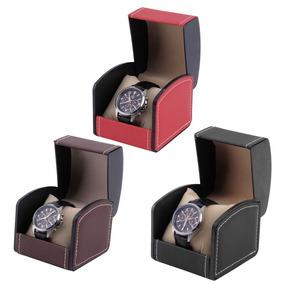 Caixinha Estojo Para Relógios Em Couro Sintetico