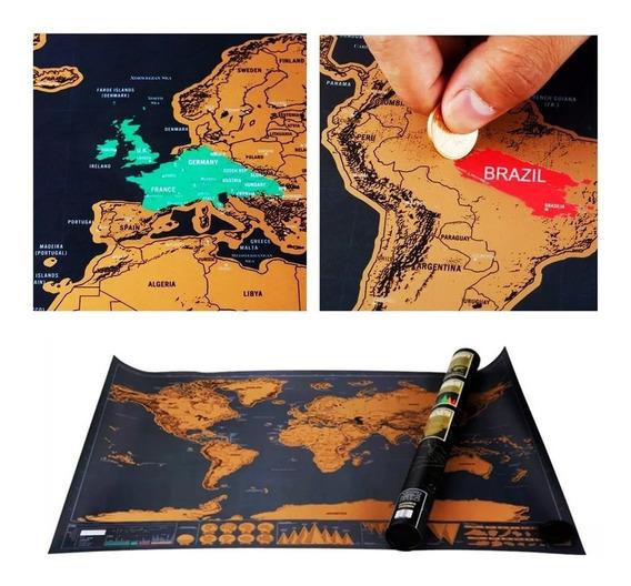Mapa Raspa De Luxe Black Edition Limitada Viajeros Turistas