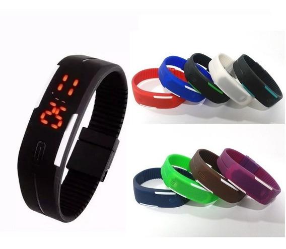 Kit 20 Relógio Pulseira Silicone Digital Led Bracelete + Brinde - Atacado