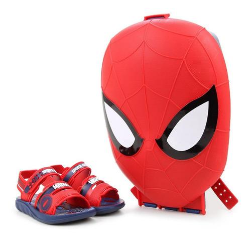 Sandalia Mvl Spider-man Pro Inf Az/vm