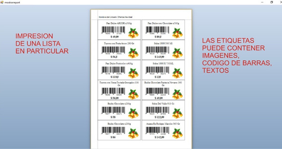Programa Para Crear E Imprimir Etiquetas Y Codigos De Barras