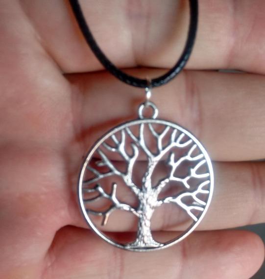 Colar Com Pingente Árvore Da Vida Frete Grátis