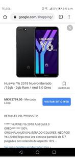 Celular Huawei Y6 2018
