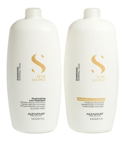Kit Alfaparf Semi Di Lino Brillo Shampoo + Acondicionador 1l