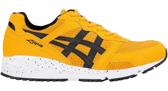 Tenis Asics Tiger Hombre Amarillos Gel Lique Suede Hl7y4319