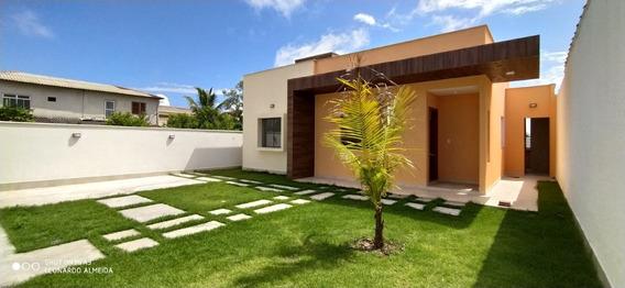 Casa Em Itaipuaçu Com 3 Quartos E Área Churrasqueira - 518