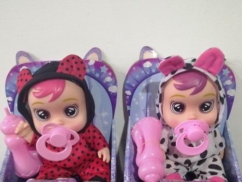 2 Muñecas Lloronas Cry 19 Baby Centímetros De Largo Parada