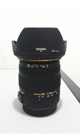 Lente Sigma Zoom 17-50mm F/2.8 Ex Dc Para Canon