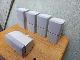 Bocinas Bose 4 Cubos Dobles Y 1 Center Channel Con Cables
