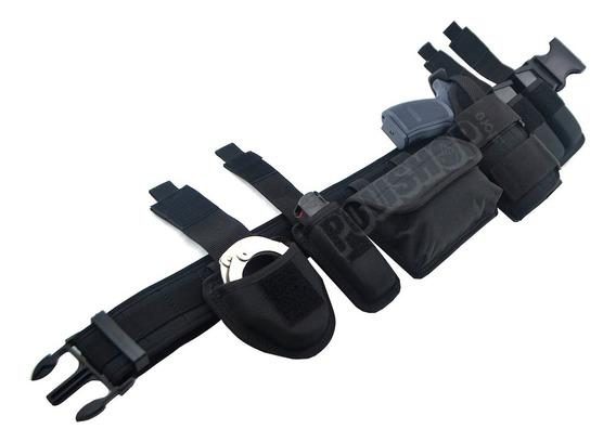 Cinturón Cinto Policial Militar Táctico Molle Negro Multiuso