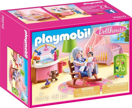 Imagen 1 de 8 de Playmobil Dormitorio De Bebe 70210 Dollhouse Ink Educando